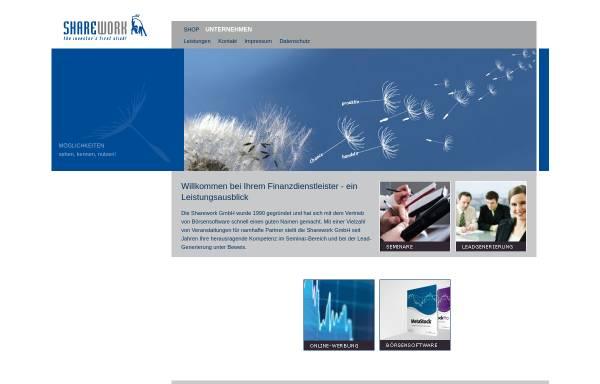 Vorschau von www.sharework.de, Sharework GmbH