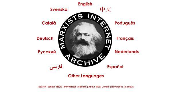 Vorschau von www.marxists.org, Marxists Internet Archive