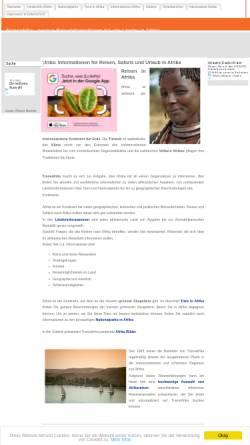 Vorschau der mobilen Webseite www.transafrika.org, Afrika Reise-Informationen