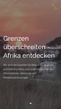 Vorschau der mobilen Webseite www.asa-africa.com, Arbeitsgemeinschaft Südliches und Östliches Afrika e.V.