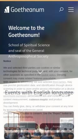 Vorschau der mobilen Webseite www.goetheanum-buehne.ch, Goetheanum-Bühne