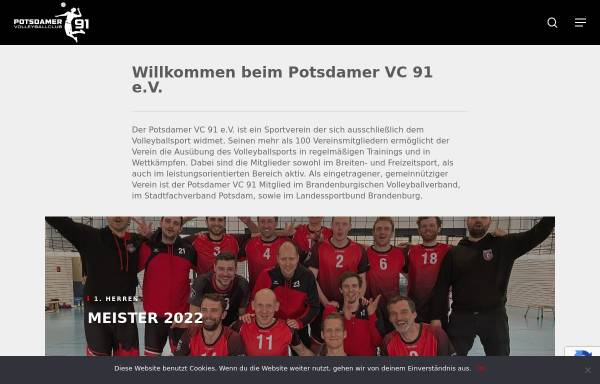 Vorschau von www.volleyball-potsdam.de, Volleyball in Potsdam