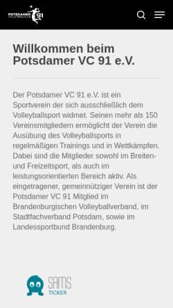 Vorschau der mobilen Webseite www.volleyball-potsdam.de, Volleyball in Potsdam