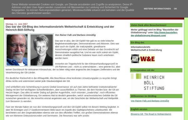Vorschau von www.g8-blog.blogspot.com, G8-Blog: Der Weg nach Heiligendamm