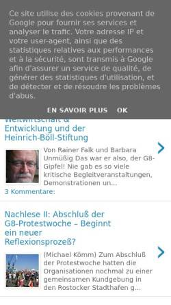 Vorschau der mobilen Webseite www.g8-blog.blogspot.com, G8-Blog: Der Weg nach Heiligendamm