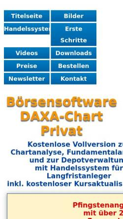 Vorschau der mobilen Webseite www.daxa-chart.de, Vermögensberatung Martin Iwersen