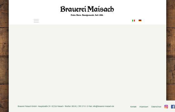 Vorschau von www.brauerei-maisach.de, Brauerei Maisach
