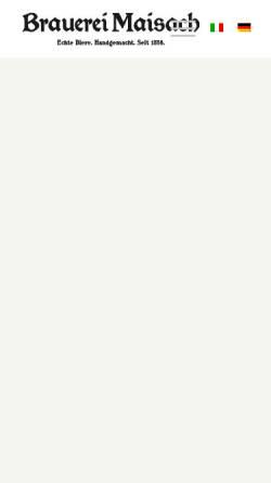 Vorschau der mobilen Webseite www.brauerei-maisach.de, Brauerei Maisach