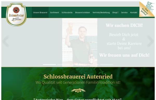 Vorschau von www.autenrieder.com, Schlossbrauerei Autenried GmbH