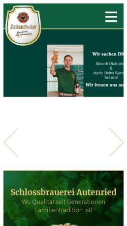 Vorschau der mobilen Webseite www.autenrieder.com, Schlossbrauerei Autenried GmbH
