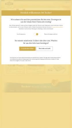Vorschau der mobilen Webseite www.tucher.de, Tucher Bräu GmbH & Co. KG