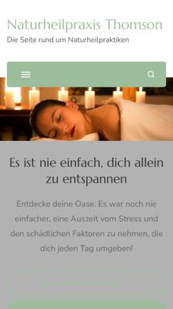 Vorschau der mobilen Webseite www.naturheilpraxisthomson.de, Bengt Thomson