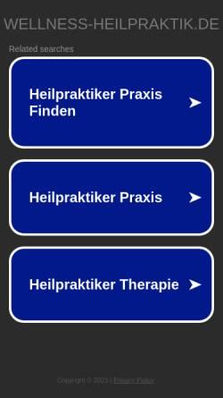 Vorschau der mobilen Webseite www.wellness-heilpraktik.de, Naturheilpraxis Martina Roth
