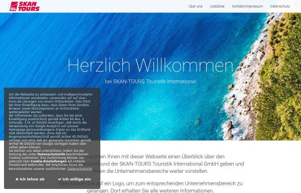 Vorschau von www.skan-tours-travel.de, Skan Tours Touristik International GmbH