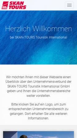 Vorschau der mobilen Webseite www.skan-tours-travel.de, Skan Tours Touristik International GmbH