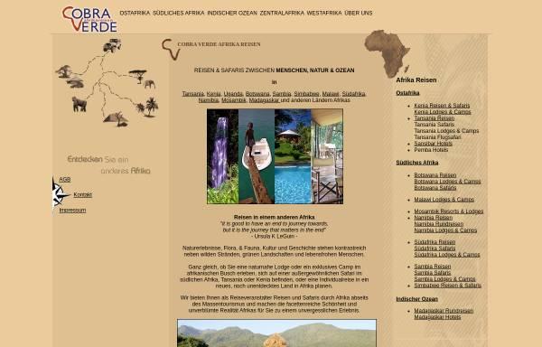 Vorschau von www.cobra-verde.de, Cobra Verde Afrikareisen