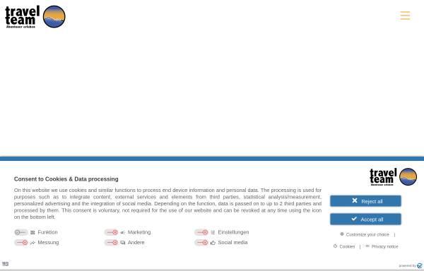 Vorschau von www.travelteam.de, Travel Team to Africa GmbH & Co. Reisecenter KG