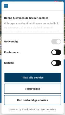 Vorschau der mobilen Webseite www.aabo-camping.dk, Aabo Camping - Tversted