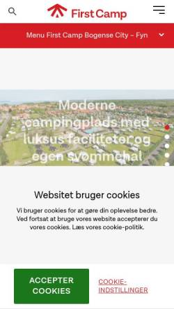 Vorschau der mobilen Webseite www.bogensecamp.dk, Bogense Strand Camping