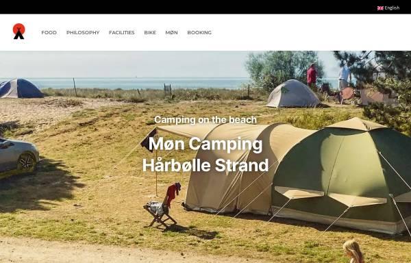 Vorschau von www.camping-vestmoen.dk, Camping Vestmøn