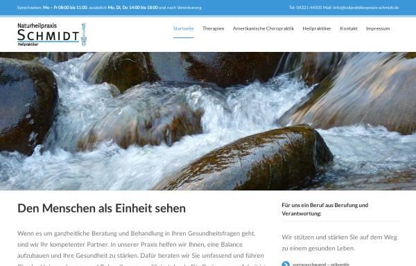 Vorschau von www.heilpraktikerpraxis-schmidt.de, Naturheilpraxis Franz-Dieter Schmidt