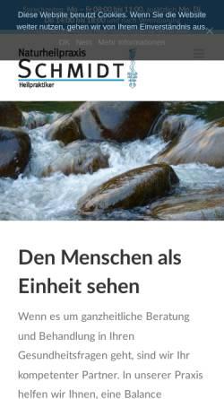 Vorschau der mobilen Webseite www.heilpraktikerpraxis-schmidt.de, Naturheilpraxis Franz-Dieter Schmidt