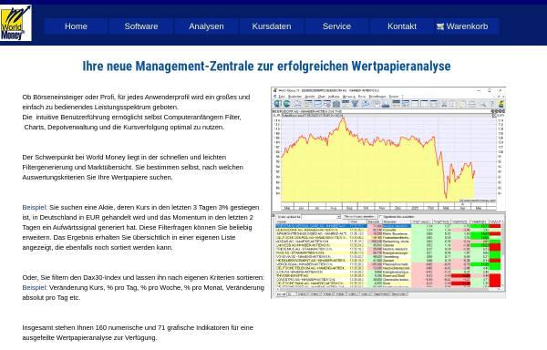 Vorschau von www.world-money.com, World Money Börseninformationssysteme