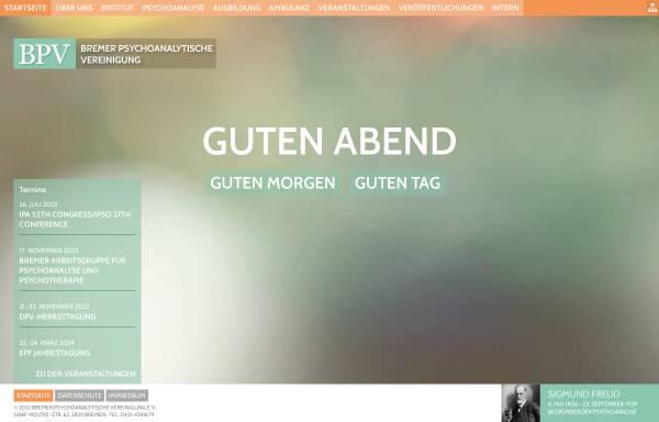 Vorschau von www.bpv-bremen.de, Bremer Psychanalytische Vereinigung e.V.
