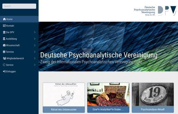 Vorschau von www.dpv-psa.de, Deutsche Psychoanalytische Vereinigung (DPV)