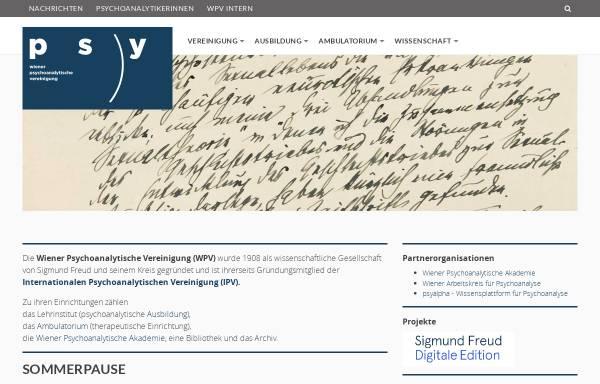 Vorschau von www.wpv.at, Wiener Psychoanalytische Vereinigung