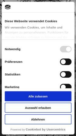 Vorschau der mobilen Webseite www.x-map.de, X-map AG