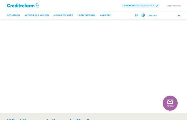 Vorschau von www.creditreform-bochum.de, Creditreform Bochum Böhme KG
