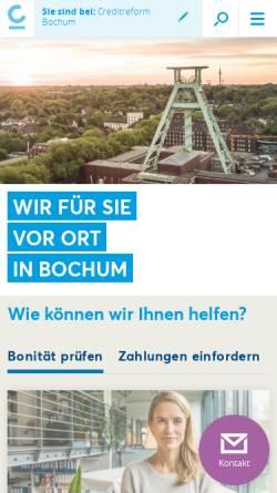 Vorschau der mobilen Webseite www.creditreform-bochum.de, Creditreform Bochum Böhme KG