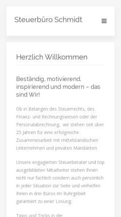 Vorschau der mobilen Webseite www.steuern-professionell.com, Dipl.Kfm. Steuerberater Barbara und Bernd Schmidt