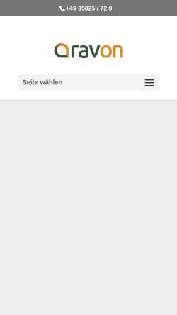 Vorschau der mobilen Webseite www.ravon.de, Regionaler Abfallverband Oberlausitz-Niederschlesien