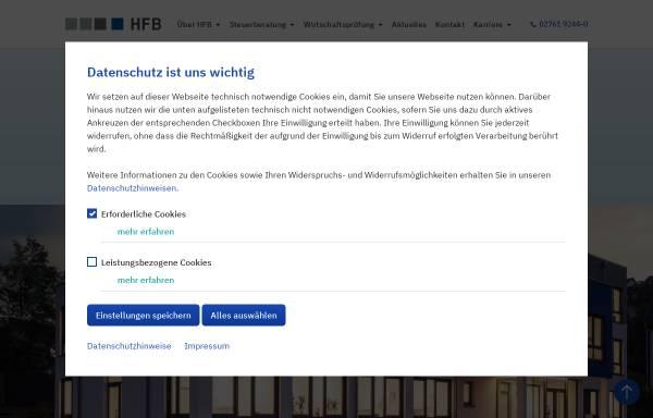 Vorschau von www.hfb-olpe.de, HFB Steuerberatungsgesellschaft mbH