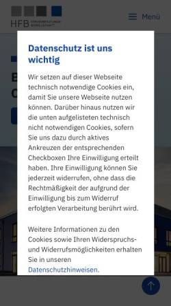 Vorschau der mobilen Webseite www.hfb-olpe.de, HFB Steuerberatungsgesellschaft mbH