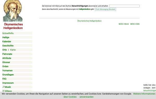 Vorschau von www.heiligenlexikon.de, Gregor I.,