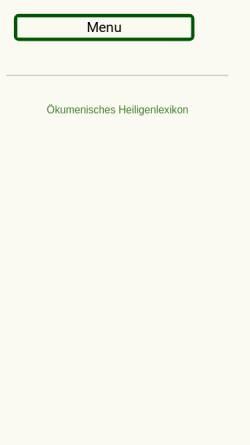 Vorschau der mobilen Webseite www.heiligenlexikon.de, Gregor I.,