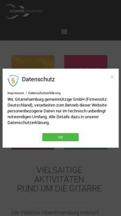 Vorschau der mobilen Webseite gitarrehamburg.de, GitarreHamburg.de