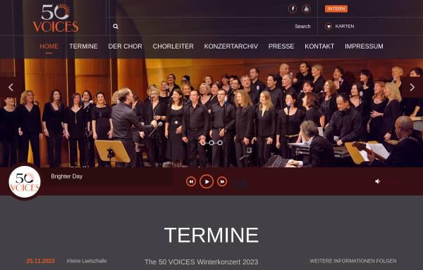 Vorschau von www.50voicesgroove.de, Gospel- und Soul-Chor