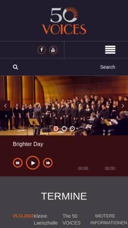 Vorschau der mobilen Webseite www.50voicesgroove.de, Gospel- und Soul-Chor