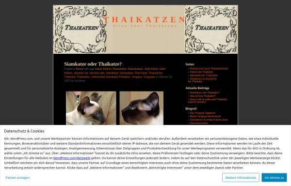 Vorschau von thaikatzen.wordpress.com, Die Thaikatze