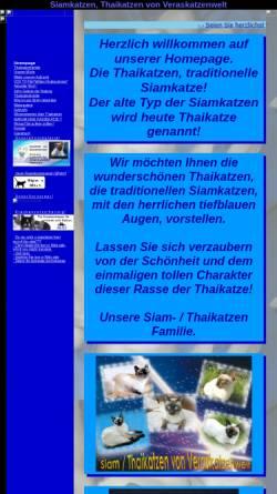 Vorschau der mobilen Webseite www.veraskatzenwelt.de, Thaikatzen von Veraskatzenwelt