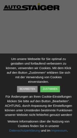 Vorschau der mobilen Webseite www.autostaiger.de, Auto-Staiger GmbH