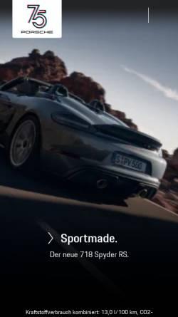 Vorschau der mobilen Webseite www.porsche.com, Dr. Ing. h.c. F. Porsche AG