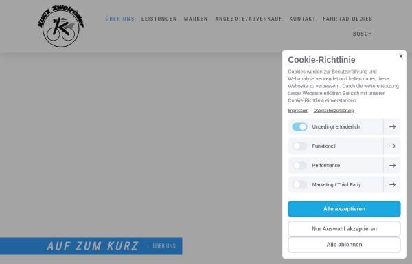 Vorschau von www.kurz-zweiraeder.de, Kurz Zweiräder