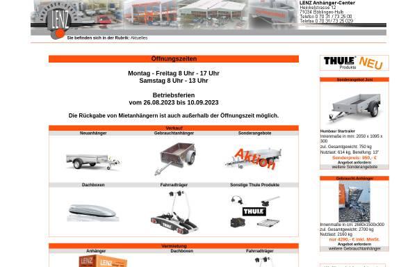 Vorschau von www.anhaengercenter.de, Lenz Anhänger-Center