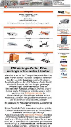 Vorschau der mobilen Webseite www.anhaengercenter.de, Lenz Anhänger-Center