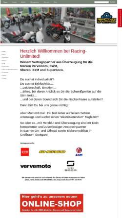 Vorschau der mobilen Webseite www.racing-unlimited.de, Racing Unlimited Motorrad-Service